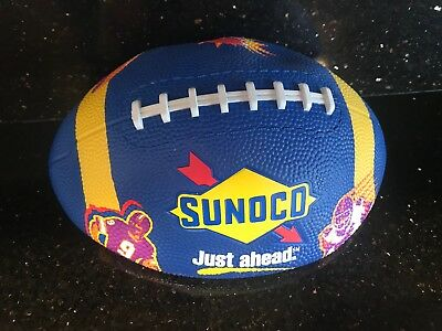 """SUNOCO GAS  1997 """"JUST AHEAD"""" BLUE FOOTBALL - Regulation Size - MInt In Package"""