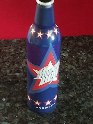 Mtn. Dew Aluminum Bottle 2008 4Th Of July Edition . Mountaun Dew Exclusive!used