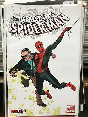AMAZING SPIDER-MAN #638 NM- 1st Print OLIVIER COIPEL STAN LEE VARIANT Fan Expo