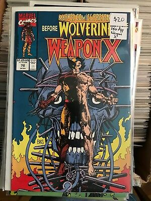 MARVEL COMICS PRESENTS #72 NM- 1st Print WEAPON X Barry Windsor Smith Wolverine