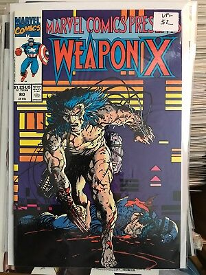 MARVEL COMICS PRESENTS #80 VF+ 1st Print WEAPON X Barry Windsor Smith Wolverine