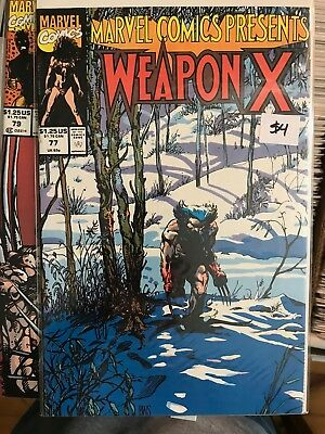 MARVEL COMICS PRESENTS #77 NM 1st Print WEAPON X Barry Windsor Smith Wolverine