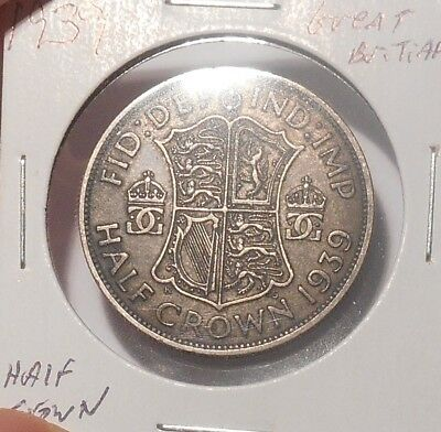 1939 Great Britian Half Crown......Free Combined Shipping  Lot 757