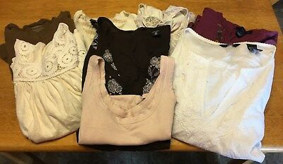 Womens Lot Sale Of 8 Tops Assorted Styles, Colors & Brands S-(5)Small & (3) X-Sm