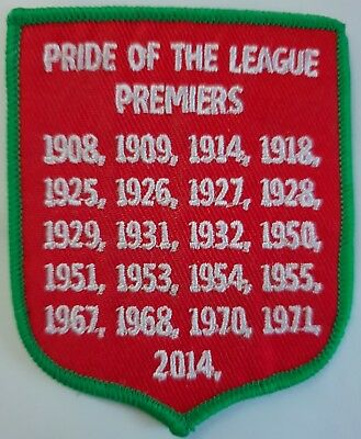 South Sydney Rabbitohs premierships sew on patch