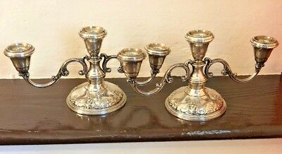 Wallace candlesticks 3 Arm Weighted Sterling Silver