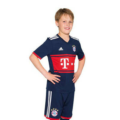 Bayern Munich FC AWAY 17-18 Junior Kids Kits Boys Shirt Short Jersey NO:11 JAMES