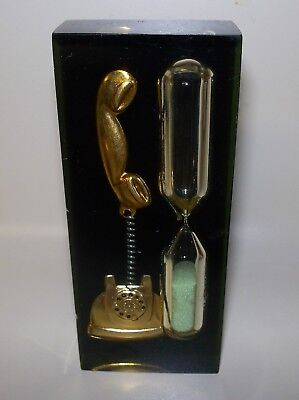 Vintage Hour Glass Lucite Timer Telephone/Phone Green Sand Hong Kong