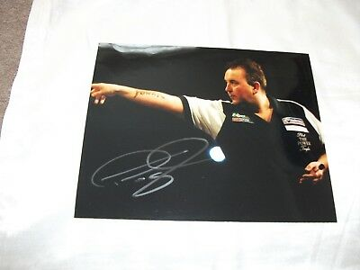 Super Phil The Power Taylor Signed Photograph Vg Darts Autograph Book