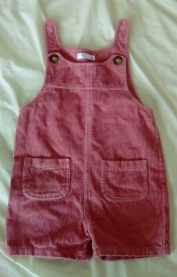 M&Co Pink short corduroy dungarees 2-3 years
