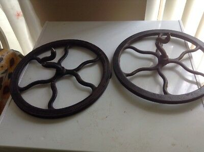 """11 Antique Singer Treadle Sewing Machine Cast Iron 12.5"""" Fly Wheel  Replacemaent"""