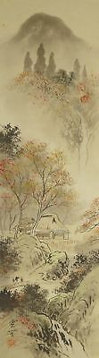 Landschaft Japanisches Rollbild Kakejiku Kakemono roll-up hanging scroll 4700