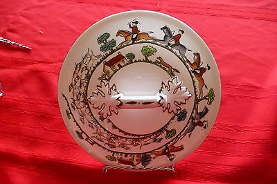 Crown Staffordshire Hunting Scene Covered Vegetable Bowl LID ONLY