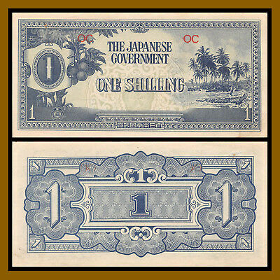 Oceania 1 Shilling, ND 1942 P-2a Circulated