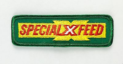 "Special X Feed Farming Seeds Vintage Embroidered Iron On Patch 4.7"" x 1.5"""