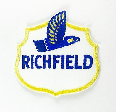 """Rare Richfield Gas Oil Vintage Embroidered Sew On Patch 3.5"""" x 3.5"""""""