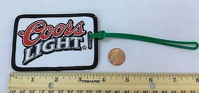 """VINTAGE *COORS LIGHT LUGGAGE TAG/ID PATCH*3.5""""x2.5"""""""