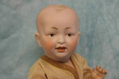 """10"""" Antique Solid Dome German Bisque Character Open/Closed Mouth Toddler body"""
