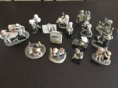 15 lot Pretty as a Picture Figurines By Kim Anderson by Enesco