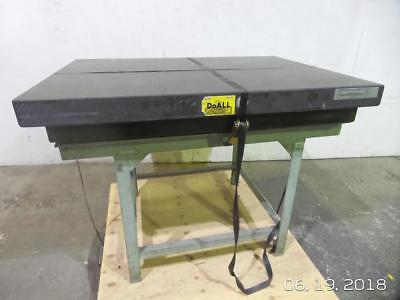 "DoALL Black Granite Surface Plate Inspection Table 48"" L 36"" W 6"" H"