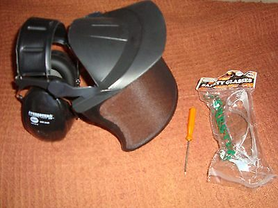 Premium Face+Hearing Protector -Safety Glasses-Chainsaw-Weedeater + Stihl Tool