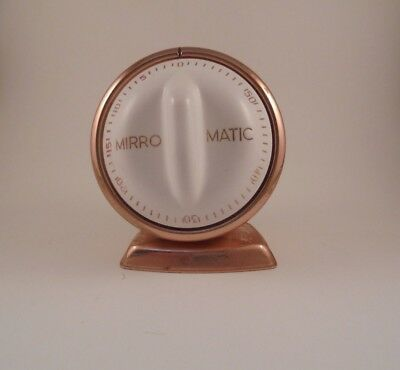 Vintage Mirro Matic 60 Minute Kitchen Timer Rose Gold Color