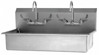 Sani-lav Stainless Steel Wash Station, With Faucet, Wall Mounting Type, Silver