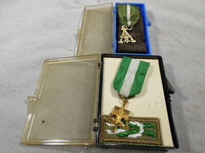 j Boy Scouts Scout Master Key Medals Gold Filled