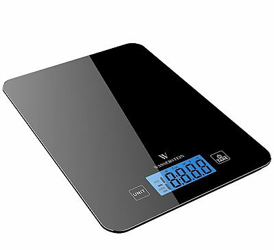 Smart Digital Bluetooth Nutrition Kitchen Food Scale LCD Backlight Display Black