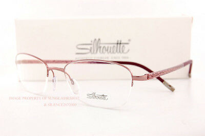 0f1117d35cd New Silhouette Eyeglass Frames Illusion Nylor 4453 6055 Pink Women Size 52