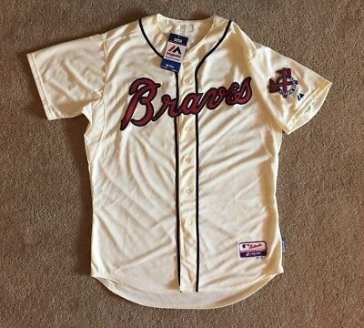 NEW Majestic Athletic Cool Base Performance MLB Atlanta Braves Jersey Size 48