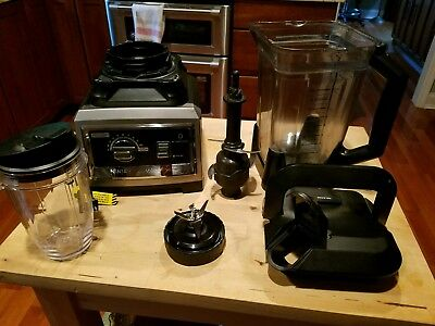 NINJA ULTIMA BLENDER BL810QSL 120V-60Hz 1500W MAX 10 SPEED USED WORKING BLENDER
