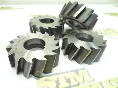 """Lot Of 4 Assorted Hss Shell Mills 2-1/2"""" & 2-3/4"""" Dia. 1"""" Bores Mr&t Standard"""