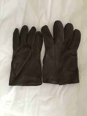 Brooks Brothers Men's Leather Gloves Size M/England