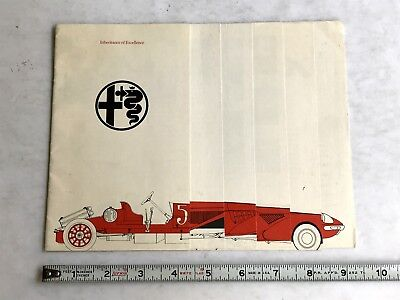 "1971 Alfa Romeo  Dealer Sales Brochure "" Inheritance Of Excellence "" Original"