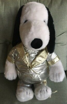 """RARE Vintage Peanuts Snoopy Plush 19"""" Doll 35 anniversary #1233 silver outfit"""
