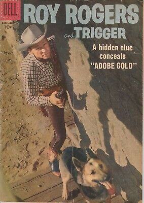 1957 No. 120 Roy Rogers & Trigger Western Cowboy Dell 10 Cent Comic Book
