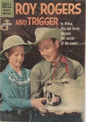 1960 No. 135 Roy Rogers & Trigger Western Cowboy Dell 10 Cent Comic Book