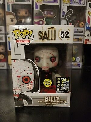 Funko Pop! Saw Billy #52 Glow in the Dark GITD 2014 SDCC Exclusive W/ HARD STACK