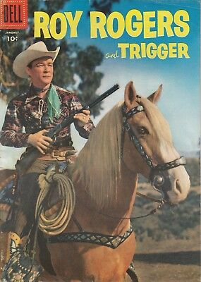 1956 No. 97 Roy Rogers And Trigger Western & Cowboy Dell 10 Ct Comic Book