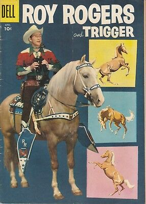 1956 No. 100 Roy Rogers And Trigger Western & Cowboy Dell 10 Ct Comic Book