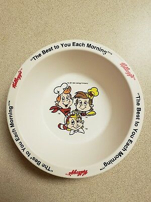 """Kellogg's """"The Best to You Each Morning"""" Snap,Crackle&POP Cereal bowl 1995 RB-2"""
