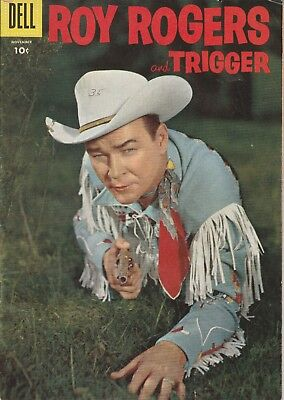 1956 No. 107 Roy Rogers And Trigger Western & Cowboy Dell 10 Ct Comic Book