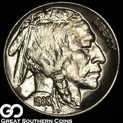 1938-D Buffalo Nickel, Solid Gem BU Blazer