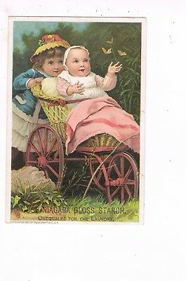 VICTORIAN ADVERTISING / TRADE Card         NIAGARA GLOSS STARCH