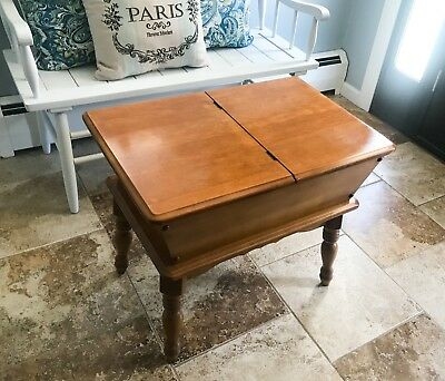 LOCAL PICKUP Vintage Antique Dough Box Mid Century Modern End Coffee Table