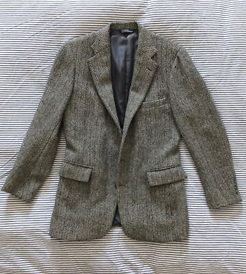 Polo Ralph Lauren Gray Wool Herringbone Tweed Sport Coat Blazer Side Vents 38R