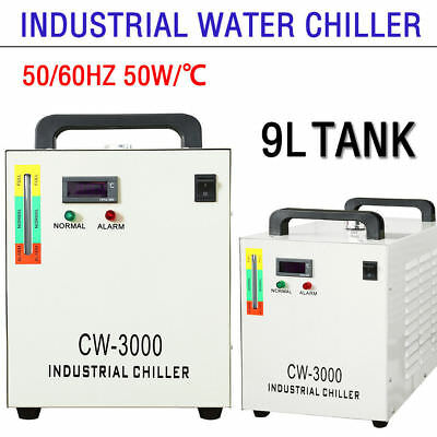 9L CW-3000 Thermolysis Industrial Water Chiller 110V 60Hz 60W/80W CO2 Laser Tube