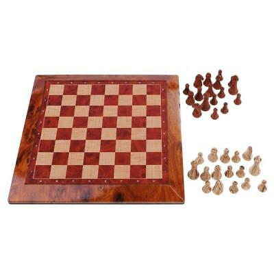 Board Chess Vintage 32 Pieces Exquisite Portable Wooden For Family Friends Gift