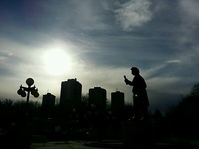 City Silhouettes and Sun Digital Photo Picture Image Jpeg Wallpaper 4128x3096